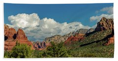 Bath Towel featuring the photograph Sedona Panoramic II by Bill Gallagher