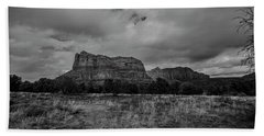 Hand Towel featuring the photograph Sedona Red Rock Country Arizona Bnw 0177 by David Haskett