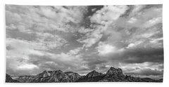 Hand Towel featuring the photograph Sedona Red Rock Country Bnw Arizona Landscape 0986 by David Haskett
