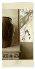 Hand Towel featuring the photograph Sedona Series - Jug And Window by Ben and Raisa Gertsberg