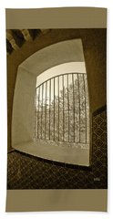 Bath Towel featuring the photograph Sedona Series - Through The Window by Ben and Raisa Gertsberg
