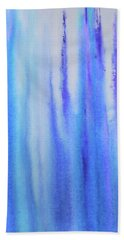 See Blue Sea Hand Towel by Cyrionna The Cyerial Artist