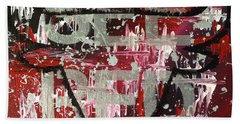 Bath Towel featuring the painting See Red Chicago Bulls by Melissa Goodrich