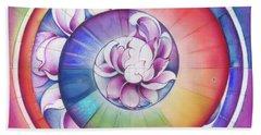 Seed Of Life - Mandala Of Divine Creation Hand Towel by Anna Miarczynska