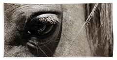 Stillness In The Eye Of A Horse Hand Towel by Marilyn Hunt