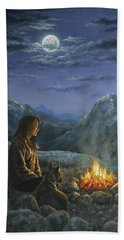 Bath Towel featuring the painting Seeking Solace by Kim Lockman