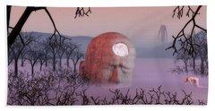 Bath Towel featuring the digital art Seeking The Dying Light Of Wisdom by John Alexander