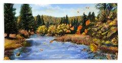 Seeley Montana Fall Bath Towel by Susan Kinney