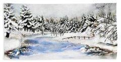Seeley Montana Winter Bath Towel by Susan Kinney