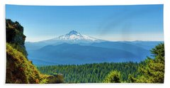 Mt Hood Seen From Beyond Bath Towel
