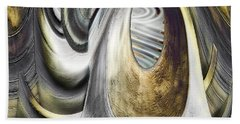 Hand Towel featuring the digital art Seen In Stone by Wendy J St Christopher