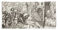 Seige Of A Town. The Beseiging Army Hand Towel