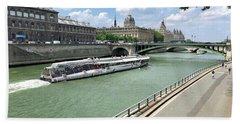 River Seine In Paris Bath Towel
