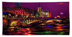 Seine, Paris Hand Towel by DC Langer