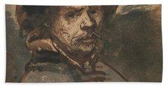Self Portrait By Rembrandt Bath Towel