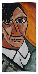 Self Portrait Of Picasso Bath Towel
