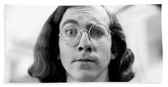 Self-portrait, With Raised Eyebrow, 1972 Bath Towel