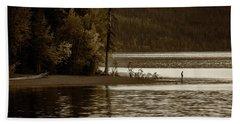 Self Reflection On The Lake Hand Towel