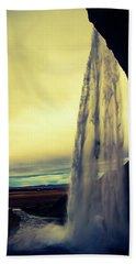 Seljalandsfoss Sunset Bath Towel