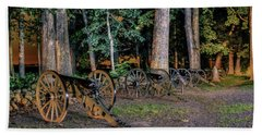 Hand Towel featuring the photograph Seminary Ridge Artillery by Rob Sellers