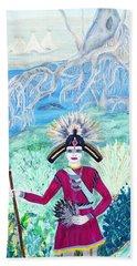 Seminole Warrior Portrait Hand Towel