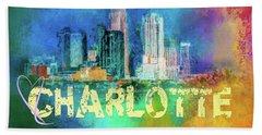 Sending Love To Charlotte Bath Towel by Jai Johnson