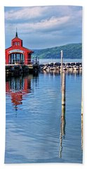 Seneca Lake Harbor Hand Towel