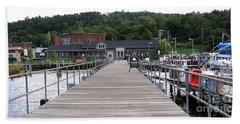Seneca Lake Pier Watkins Glen New York Bath Towel