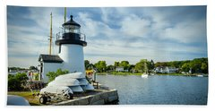 Sentinels Of The Sea Lighthouse Hand Towel