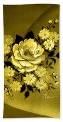 Sepia Bouquet Hand Towel
