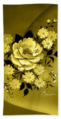 Sepia Bouquet Bath Towel