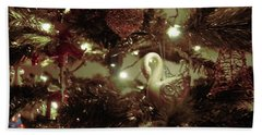 Sepia Christmas Tree Hand Towel