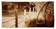 Sepia Garden Bath Towel by Julie Hamilton