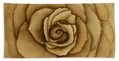 Sepia Rose Hand Towel by Kelly Mills