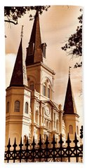 Sepia St. Louis Cathedral Hand Towel