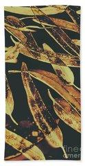 Sepia Toned Image Of Floating Eucalyptus Leaves Hand Towel