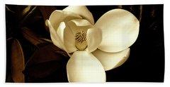 Sepia-toned Magnolia Hand Towel