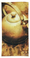 Sepia Toned Old Vintage Domed Kettle Bath Towel