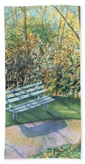 Hand Towel featuring the painting September Afternoon by Lynn Quinn