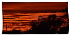 Hand Towel featuring the photograph September Kansas Sunset by Mark McReynolds