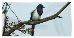 September Magpie Hand Towel by Philip Openshaw