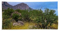 Hand Towel featuring the photograph September Oasis No.2 by Mark Myhaver