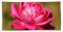 September Rose Up Close Bath Towel
