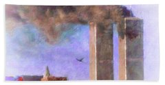 September The 11th Hand Towel by Melissa Messick