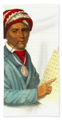 Hand Towel featuring the photograph Sequoyah 1838 by Padre Art