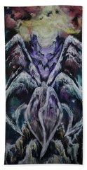 Hand Towel featuring the painting Seraph by Cheryl Pettigrew
