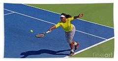Serena Williams 1 Hand Towel by Nishanth Gopinathan