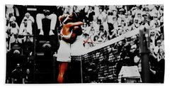 Serena Williams And Angelique Kerber Hand Towel by Brian Reaves