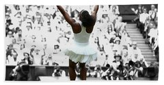 Serena Williams Back On Top Hand Towel