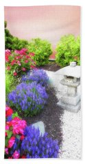 Serene Garden Bath Towel by Suzanne Handel